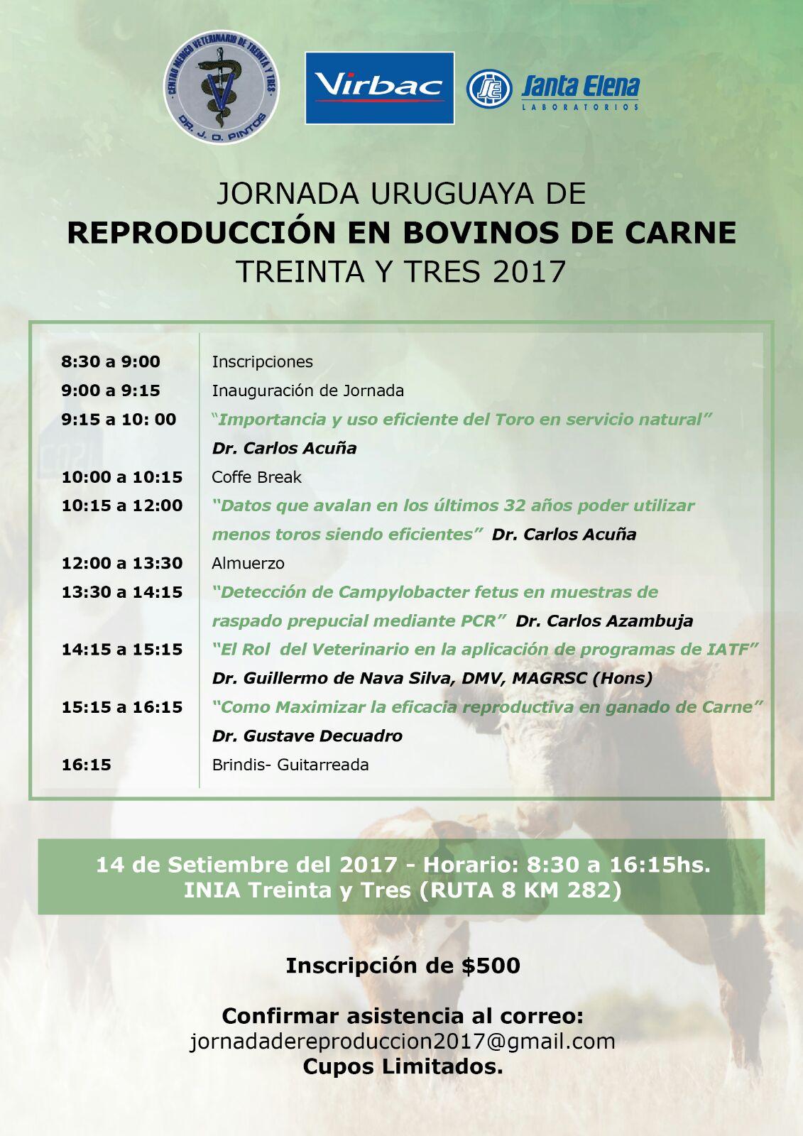 Jornada Uruguaya de Reproducción en Bovinos de Carne