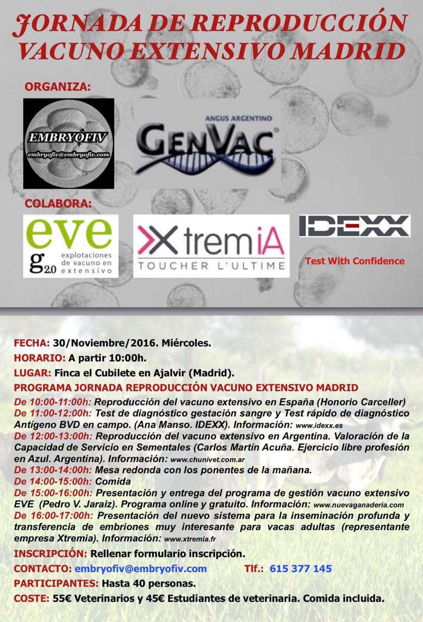 Jornada de Reproducción Vacuno Extensivo Madrid